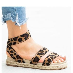 Shoes - BEST SELLER LEOPARD LOW SOLE WEDGE ESPADRILLE